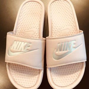 Nike Pink Women Slider Sz 9